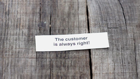 The Customer is always right Stock Video Footage
