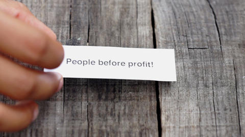 People Before Profit Stock Video Footage