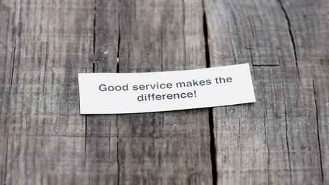 Good Service makes the difference Stock Video Footage