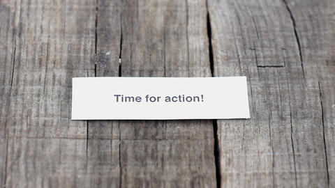 Time for action Stock Video Footage