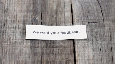 We want your feedback Stock Video Footage