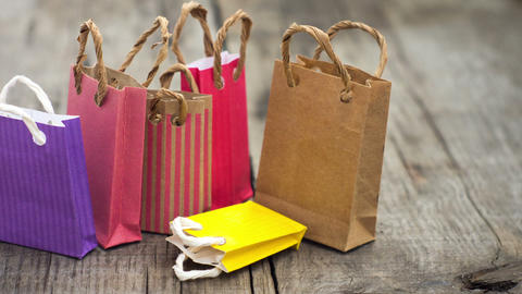 Shopping Bags Stock Video Footage