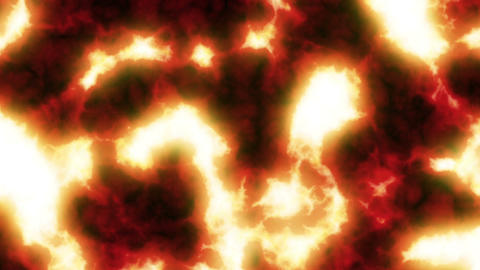 Lava flowing. Clear. HD 1080. Looped animation Stock Video Footage