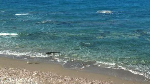 Waves on the sea. Set of 3 videos in one. HD 1080 Stock Video Footage