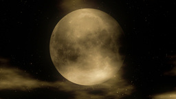 Moon 1 - Stylized Night Video Background Loop Stock Video Footage