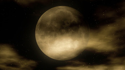 Moon 1 - Stylized Night Video Background Loop Animation