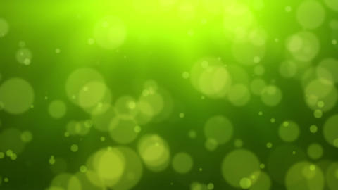 Green Bokeh Dot Background Animation