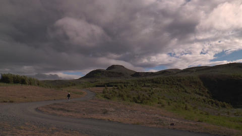 historic settlement of the vikings in iceland Stock Video Footage