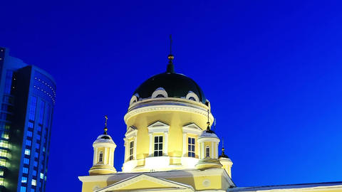 Holy Trinity Cathedral, Yekaterinburg. Time Lapse Stock Video Footage