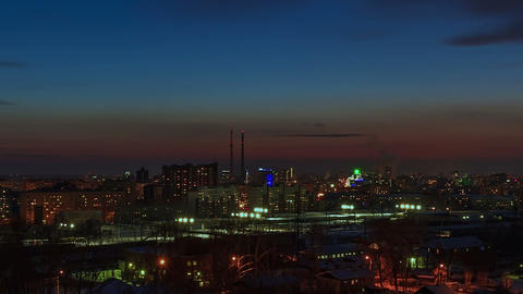 From day to night. City wakes up. Time Lapse Stock Video Footage