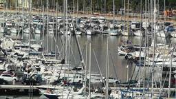 Alicante Spain 5 port Stock Video Footage