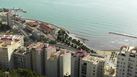 Alicante Spain 13 aerial Stock Video Footage