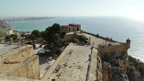 Alicante Spain 21 Castle Santa Barbara Stock Video Footage