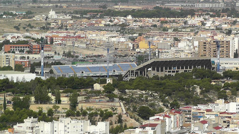 Alicante Spain 31 Aerial Football Stadium stock footage