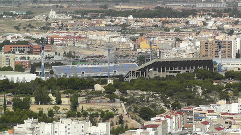 Alicante Spain 31 aerial football stadium Stock Video Footage