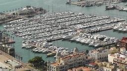 Alicante Spain 35 aerial port Stock Video Footage