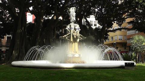 Alicante Spain 37 Plaza Gabriel Miro fountain Stock Video Footage