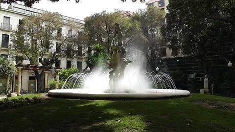 Alicante Spain 39 Plaza Gabriel Miro fountain Stock Video Footage