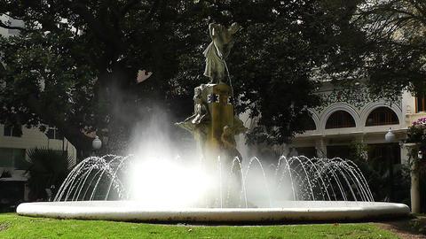Alicante Spain 43 Plaza Gabriel Miro fountain Stock Video Footage