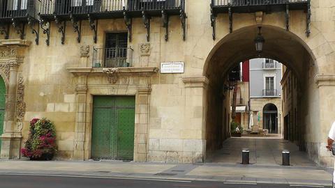 Alicante Spain 51 Placa Ajutament Stock Video Footage