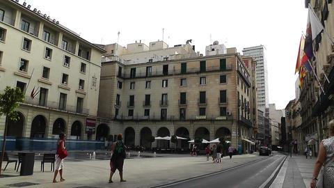 Alicante Spain 59 Placa Ajutament Stock Video Footage