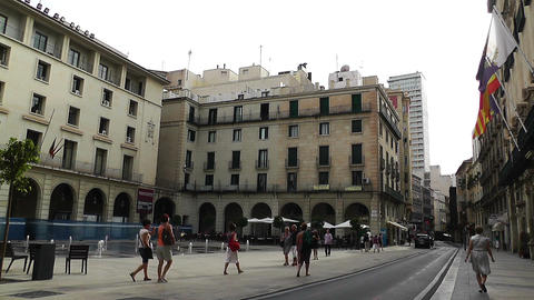 Alicante Spain 59 Placa Ajutament Footage
