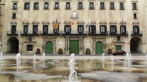 Alicante Spain 63 Placa Ajutament Stock Video Footage
