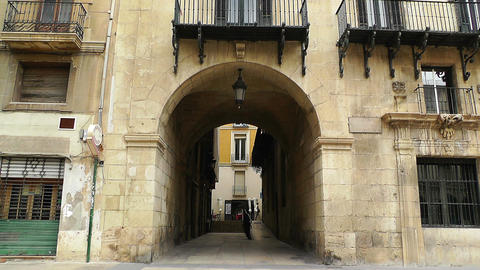 Alicante Spain 68 Placa Ajutament Footage