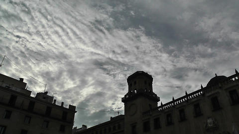 Alicante Spain 72 clouds timelapse Stock Video Footage