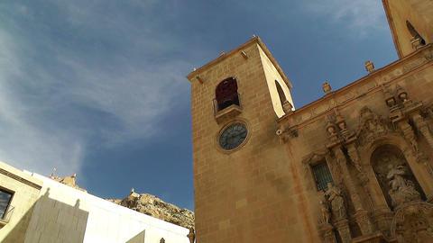Alicante Spain 80 pan Basilica Santa Maria Stock Video Footage