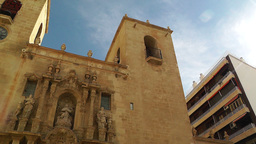 Alicante Spain 80 pan Basilica Santa Maria Stock Video Footage