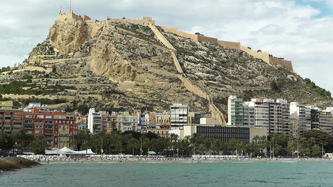 Alicante Spain 88 beach Stock Video Footage