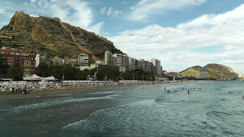 Alicante Spain 94 beach Stock Video Footage