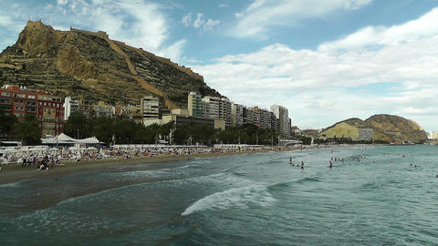Alicante Spain 94 beach Footage