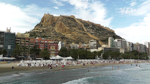 Alicante Spain 96 beach Stock Video Footage