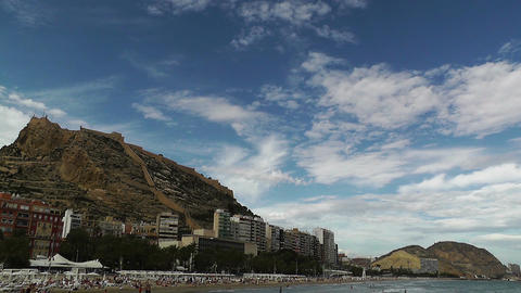 Alicante Spain 101 beach Stock Video Footage
