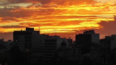 Alicante Spain 113 dramatic sunset Footage