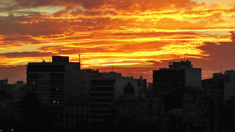 Alicante Spain 113 dramatic sunset Stock Video Footage