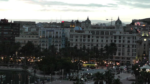 Alicante Spain 115 evening Stock Video Footage