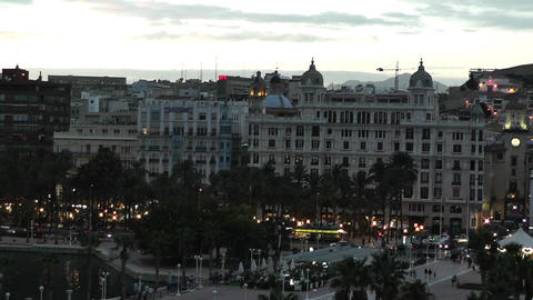 Alicante Spain 115 evening Footage