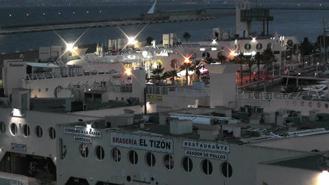Alicante Spain 116 evening Stock Video Footage