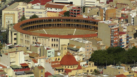 Alicante Spain Bull Arena 19 aerial Stock Video Footage