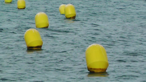 Bouys on Water 2 Stock Video Footage