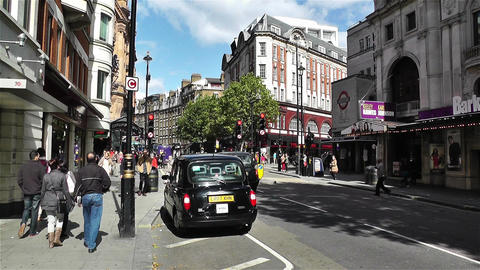 Charing Cross Road London 7 Handheld stock footage