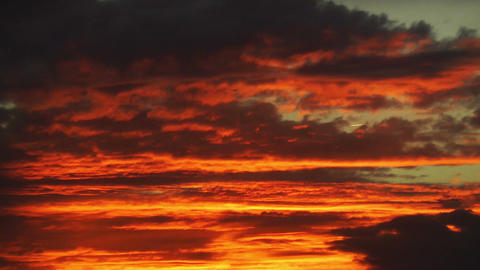 Dramatic Clouds Sunset 1 Stock Video Footage
