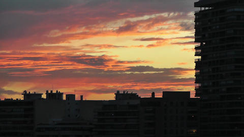 Dramatic Clouds Sunset 3 Stock Video Footage