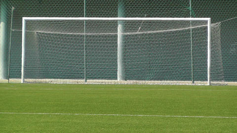 Empty Training Football Soccer Field 1 sequence Stock Video Footage