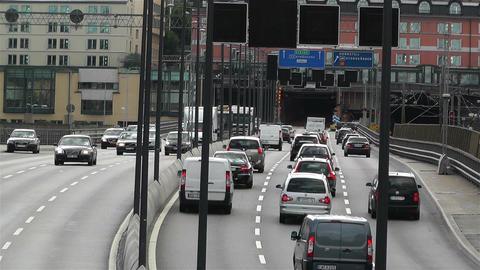 Gamla Stan Stockholm 2013 2 traffic Stock Video Footage
