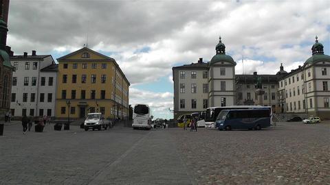 Gamla Stan Stockholm 2013 14 riddardholmen Stock Video Footage