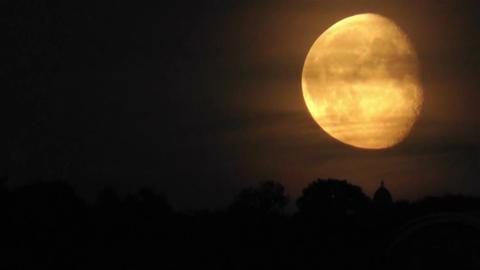 Huge Moon 2 Stock Video Footage
